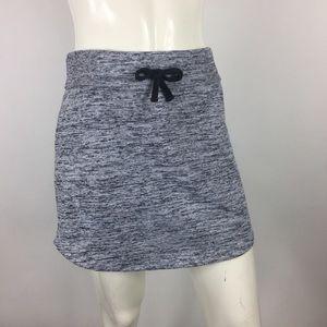 Athleta Drawstring Sweater Mini Skirt